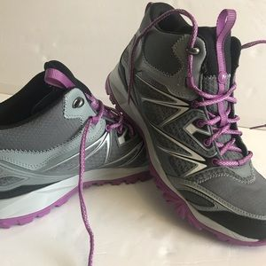 Merrill women's hiking boots shoes gray/purple 11